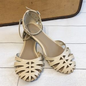Nicole Ankle Strap Flat Sandals